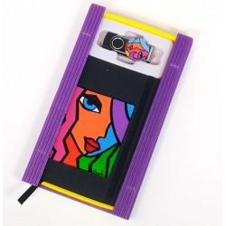 Caja libreta bolsillo + pen drive de 32GB. Greta