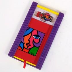 Caja libreta bolsillo + pen drive de 32GB. Olivia