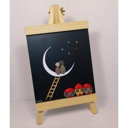 Caballete luna. 16x29x2,5cm.