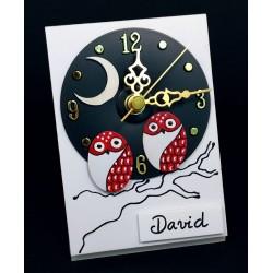 Reloj sobremesa 9x13. Rojo