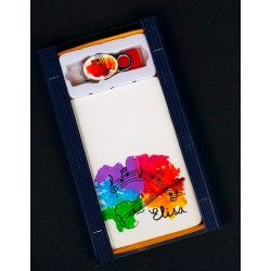 Caja libreta bolsillo + pen drive de 32GB. Violín